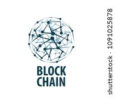 vector logo blockchain   Shutterstock .eps vector #1091025878