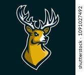 deer stag esport gaming mascot...   Shutterstock .eps vector #1091027492