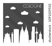 cologne germany skyline city... | Shutterstock .eps vector #1091029532