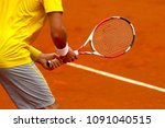 a tennis player waiting for a... | Shutterstock . vector #1091040515
