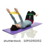 woman exercising doing... | Shutterstock . vector #1091050352