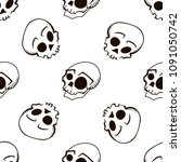 seamless vector pattern with... | Shutterstock .eps vector #1091050742