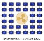 block chain technology of... | Shutterstock .eps vector #1091051222