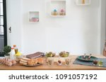 cooking  culinary vegetables... | Shutterstock . vector #1091057192