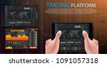 vector trade dashboard market...