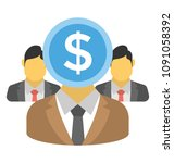 a person with dollar head and... | Shutterstock .eps vector #1091058392