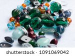 beads  scattered beads  beads  ... | Shutterstock . vector #1091069042