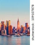 Manhattan Skyline Illuminated...