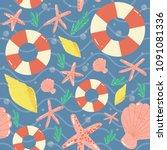 seamless vector pattern of... | Shutterstock .eps vector #1091081336