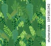 vector cartoon style seamless... | Shutterstock .eps vector #1091081342