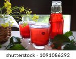 cranberry juice or lemonade.... | Shutterstock . vector #1091086292