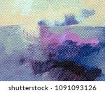 real oil painting. artistic... | Shutterstock . vector #1091093126