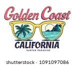 california vector illustration  ... | Shutterstock .eps vector #1091097086