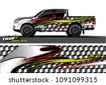 truck wrap design vector.... | Shutterstock .eps vector #1091099315