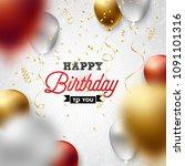 happy birthday vector design...   Shutterstock .eps vector #1091101316