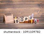 gdpr. general data protection...   Shutterstock . vector #1091109782