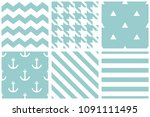 tile vector pattern with... | Shutterstock .eps vector #1091111495