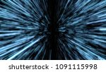 space travelling in the speed... | Shutterstock . vector #1091115998