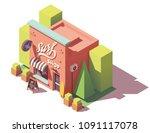 vector isometric surf equipment ...   Shutterstock .eps vector #1091117078