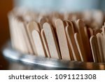 closeup macro coffee stir stick | Shutterstock . vector #1091121308