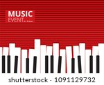 music event piano poster.... | Shutterstock .eps vector #1091129732