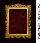 royal invitation golden photo... | Shutterstock .eps vector #1091133452