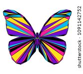 abstract polygonal butterfly... | Shutterstock . vector #1091142752
