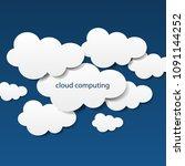 cloud computing  social network ...   Shutterstock .eps vector #1091144252
