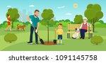 vector summertime flat...   Shutterstock .eps vector #1091145758