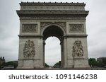 place charles de gaulle  paris  ...   Shutterstock . vector #1091146238