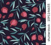 tropical seamless pattern with... | Shutterstock .eps vector #1091146655