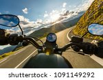 motorcycle driver riding in... | Shutterstock . vector #1091149292