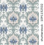 victorian style pattern with... | Shutterstock .eps vector #1091152532