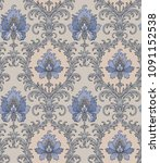 victorian style pattern with... | Shutterstock .eps vector #1091152538