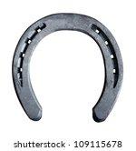 Stock photo close up view of horseshoe isolated on white background 109115678