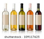 Set 5 Bottles Of Wine With...