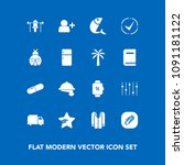 modern  simple vector icon set... | Shutterstock .eps vector #1091181122