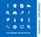 modern  simple vector icon set... | Shutterstock .eps vector #1091185022