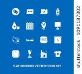 modern  simple vector icon set...   Shutterstock .eps vector #1091187302