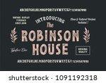original hand drawn alphabet.... | Shutterstock .eps vector #1091192318
