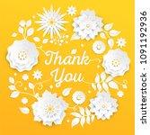 thank you   modern vector... | Shutterstock .eps vector #1091192936