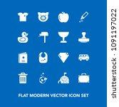 modern  simple vector icon set... | Shutterstock .eps vector #1091197022