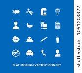 modern  simple vector icon set...   Shutterstock .eps vector #1091203322
