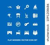 modern  simple vector icon set... | Shutterstock .eps vector #1091208686