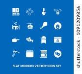 modern  simple vector icon set...   Shutterstock .eps vector #1091209856