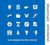 modern  simple vector icon set... | Shutterstock .eps vector #1091210426