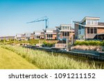 Dutch Suburban Area With Moder...
