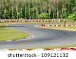 karting   turn on a  empty open ... | Shutterstock . vector #109121132