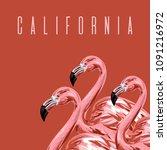 california. vector colorful... | Shutterstock .eps vector #1091216972