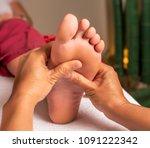 acupressure  reflexology.... | Shutterstock . vector #1091222342